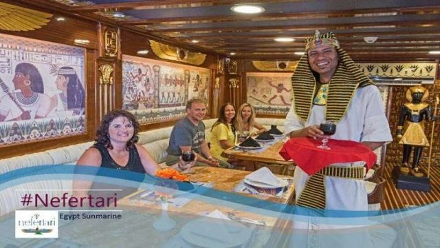 Nefertari Seascope boat trip from Marsa alam with dinner