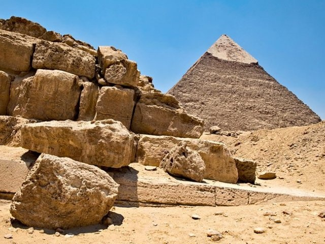 The Pyramd of Chephren at Giza