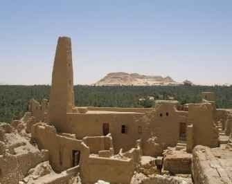 The temple of the Oracle in Siwa oasis