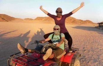 Desert Sunset Safari Trip By Quad Bike from Soma bay
