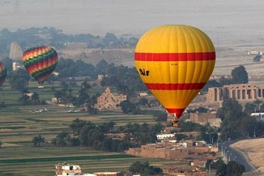 luxor two days tour from El Gouna with hotair balloon